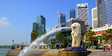 Thailand and Malaysia with Singapore
