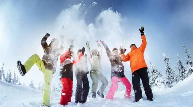 Group from delhi enjoy snow in Auli