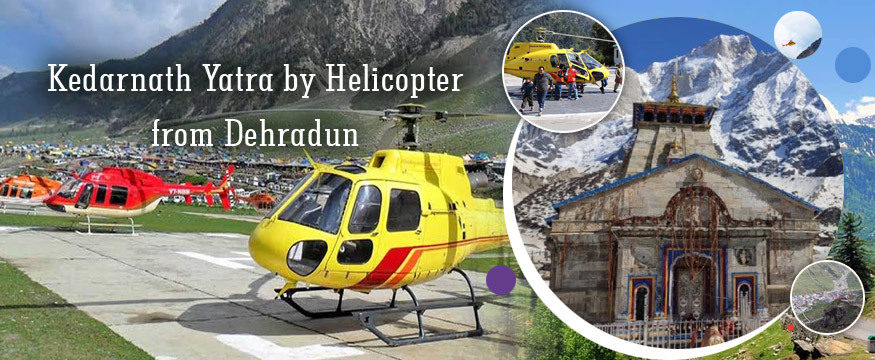 Kedarnath temple yatra by helicopter